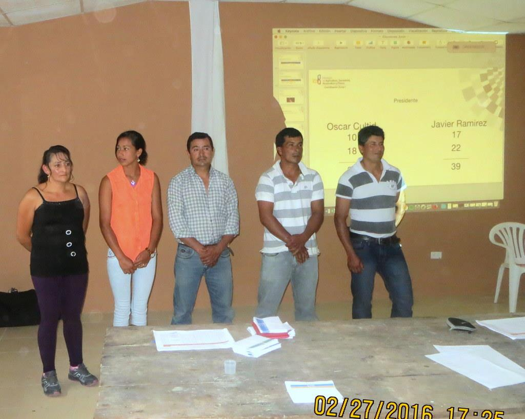 The new leaders of the community of Junin